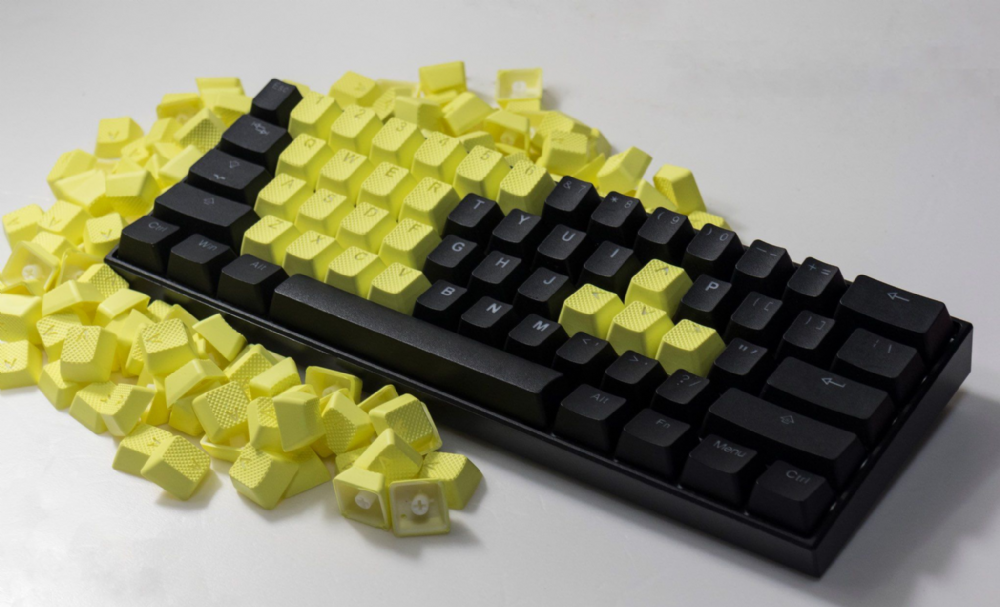 Tai-Hao TPR Rubber Backlit Double Shot 22 Keys - Neon Yellow